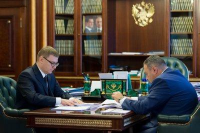 Алексей Текслер встретился с Михаилом Бирюком
