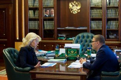 Татьяна Голикова и Алексей Текслер обсудили вопросы развития медицины Челябинской области