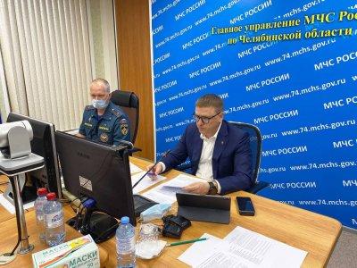 Губернатор Челябинской области Алексей Текслер провел заседание регионального оперативного штаба в связи со  сложной ситуацией с лесными пожарами на юге Челябинской области