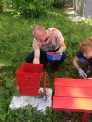 Покраска Детского игрового комплекса