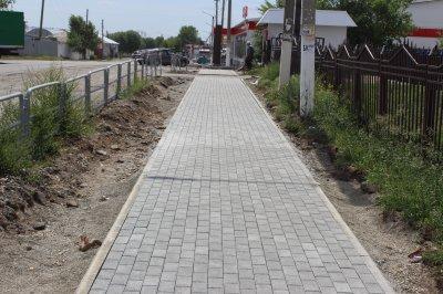 Идет ремонт улицы Красноармейской в п. Увельском